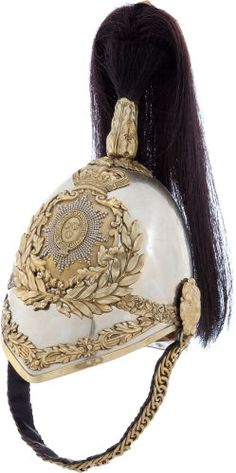Victorian Era British South Salopian Yeomanry Cavalry Troopers Helmet....