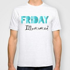 Friday Illustrated T-shirt Friday, Illustration, Mens Tops, T Shirt, Shopping, Art, Fashion, Supreme T Shirt, Art Background