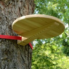 Ratchet-strap table simple design portable can be strapped to a tree or whatever for picnic etc
