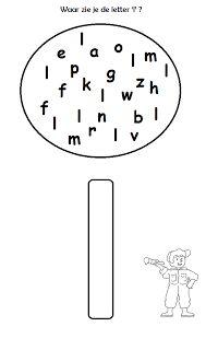 Werkblad taalontwikkeling - kleur de letter l.