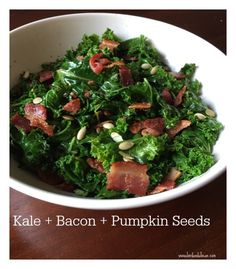 Kale, bacon and pump