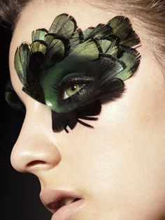 bird makeup this is so beautiful