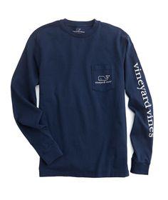 best service 73941 42fe8 Shop Long-Sleeve Vintage Whale Graphic Pocket T-Shirt at vineyard vines