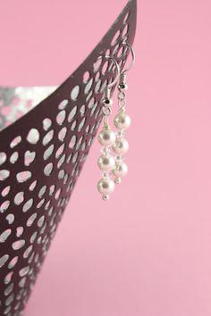 Perlenohrringe - Ohrschmuck Elena - Braut - ein Designerstück von greta_mar bei DaWanda