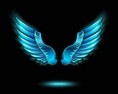 Photo about Blue glowing angel wings with metal shine and shadow symbol vector illustration. Illustration of glow, symbol, angel - 39494816 Background Wallpaper For Photoshop, Wings Wallpaper, Desktop Background Pictures, Blur Photo Background, Studio Background Images, Banner Background Images, Background Images For Editing, Background For Photography, Png Images For Editing