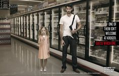 Remarkable Ads Protest the Absurdity of the Open-Carry Gun Policy at Kroger