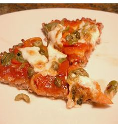 "Low Carb Pizza (""fried"" cheese base)"