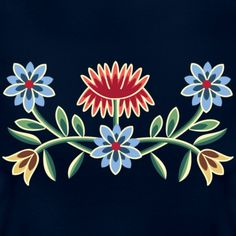 Nordlandsbunad broderi - NAUTEE.no T-shirt | Spreadshirt Norway National Day, Scandinavian Embroidery, Primary And Secondary Colors, Norwegian Rosemaling, Little Cotton Rabbits, Embroidery On Clothes, Painting Inspiration, Painting On Wood, Sewing Crafts