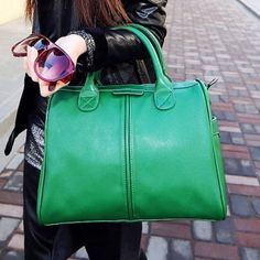 Casual PU Leather and Solid Color Design Tote Bag For Women (GREEN) in Tote Bags | DressLily.com