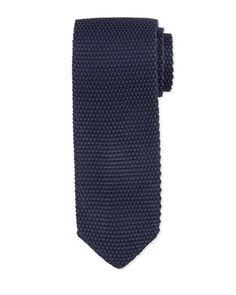 Textured+Knit+Tie,+Navy+by+TOM+FORD+at+Neiman+Marcus.