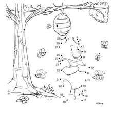 Dot to dot: Winnie the Pooh with the bees