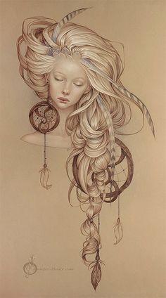 draw girl ♥ art illustration