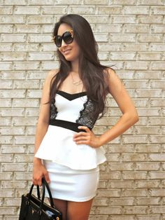 Sensible Stylista in a Deb Shops peplum dress
