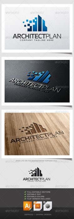 Architect Plan Logo — Vector EPS #clean #clear effective • Available here → https://graphicriver.net/item/architect-plan-logo/5187472?ref=pxcr