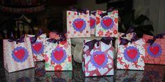 "Jlospaperfun: Valentine Treat Bags.Bags measure 3"" x 3 3/4"" & 2..."