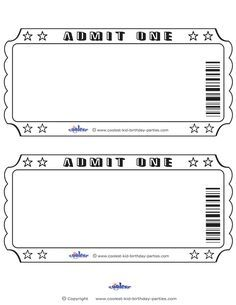 Printable Admit One Birthday Party Invite Freeprintable Com