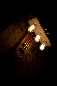 Steampunk wall lamp, handmade.