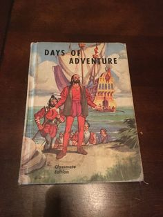 Excited to share the latest addition to my #etsy shop: Vintage 1950s Days Of Adventure School Book ,Textbook, history book, childrens stories http://etsy.me/2AkLayg #booksandzines #book #children #antique #textbook #schoolbook #retrokidsbook #historybook #hardcover