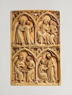 Leaf of a Writing Tablet, 14th century, made in Paris, France, Ivory