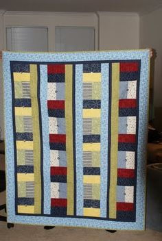Red, White and Blue Wedding Quilt