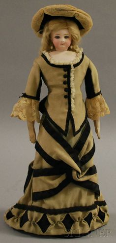 French Fashion with Swivel Bisque Head | Sale Number 2565M, Lot Number 9 | Skinner Auctioneers