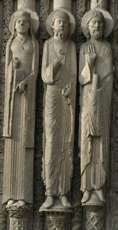 Portail Royale Cathédrale de Chartres, Statues colonnes
