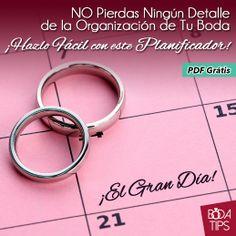 Planeador de Boda Descargable. http://bodatips.com.mx/pdf/planeador-de-boda/Portada.jpg