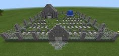 Minecraft Graveyard Cemetery Flowers Water Fountain