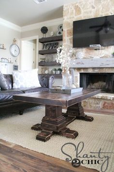 DIY Pedestal Coffee Table