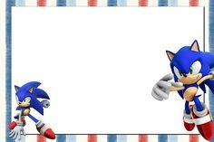 Sonic – Kit Completo com molduras para convites, rótulos para guloseimas, lembrancinhas e imagens!   Fazendo a Nossa Festa