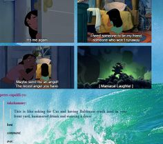 (gif set) Asking for Cas and Getting Balthazar ||| Supernatural + Lilo and Stitch