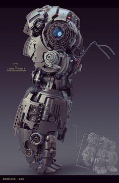 Grimlock by Reno Levi. (via ArtStation - Grimlock, Reno Levi) More robots here.