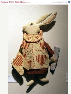 Severe Snow Sale Primitive Alice in Wonderland White Rabbit