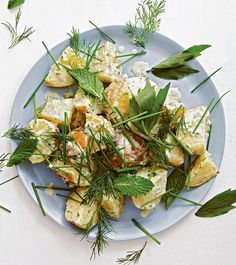 Potato Salad with Soft Green Herbs
