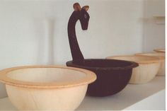 my textile bowls and the deer