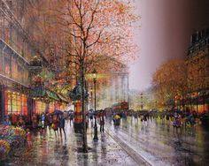 Guy Dessapt 1938 | French Impressionist painter | Paris autumn