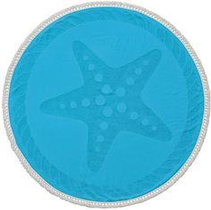 Enchante Home Starfish Round Cotton Beach Towel