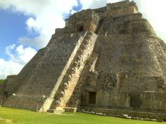 Mayan ruins...outside of Progresso Mexico...this was at Uxchmal ruins