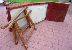 renowacja fotela do spania z lat 50-tych