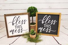 A personal favorite from my Etsy shop https://www.etsy.com/listing/511352646/bless-this-mess-framed-farmhouse-style