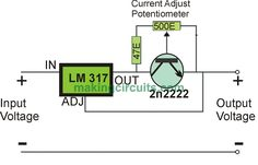 simple adjustable current control circuit