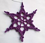 Ravelry: Simple Picot Snowflake pattern by Nicole A. Miller