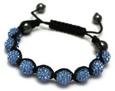 Shamballa bracelet denim blue