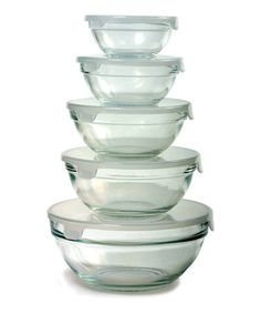 Take a look at this Glass Mixing Bowl Set by Norpro on #zulily today!