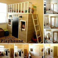 Indoor playhouse for the basement!