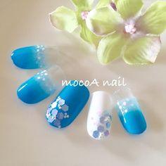 紫陽花ネイル♡ これからの季節にオススメです♫  参考価格 デザイン込み込みコース 8500円(税込・オフ無料)  #nail#nails#nailart#nailist#naildesign#design#art#nailsalon#style#gel#gelnail#instanail#kawaii#flower#네일#젤네일#네일아트#플라워#플라워네일#수국#수국네일#ネイル#ジェルネイル#ネイルデザイン#岡山ネイル#岡山ネイルサロン#初夏ネイル#紫陽花#アジサイ#アジサイネイル