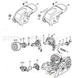 Stihl MS 291 Chainsaw Parts Diagram, Air baffle Chainsaw Parts, Diagram