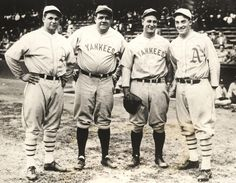 Jimmie Foxx, Babe Ruth, Lou Gehrig, and Al Simmons