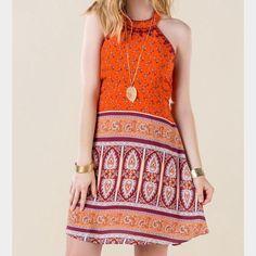 Francesca'S Bohemian Halter Dress
