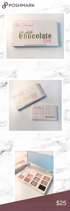 Too Faced White Chocolate Chip Palette 💕🎀🌷 Too Faced White Chocolate Chip palette new in box! Not swatched at all - totally new and pristine. Cuuuute! 🎀 cocoa powder infused soft and sugary eye shadow palette. Price firm. Bundle & save! 💕 Too Faced Makeup Eyeshadow